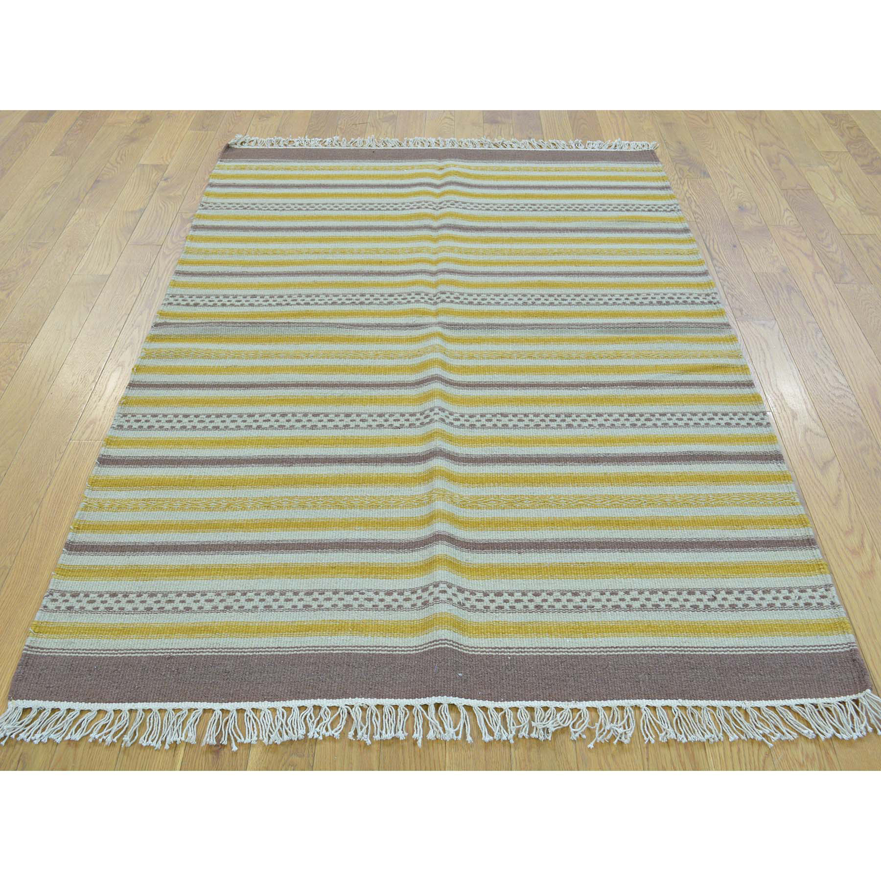 Hand Woven Durie Kilim Striped Rug