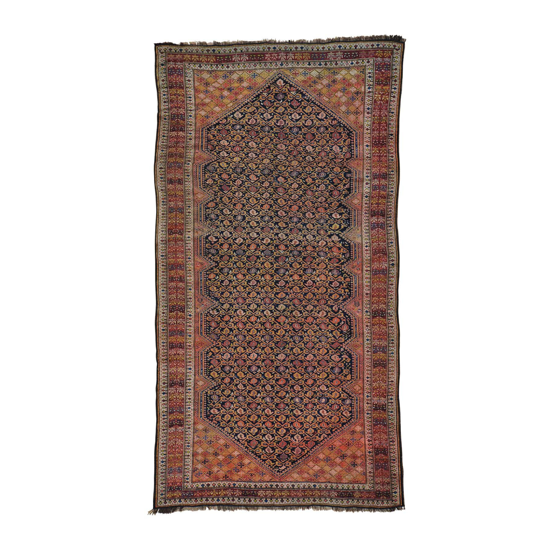 "6'3""x11'10"" Gallery Size Antique Russian Hand Woven Oriental Rug"
