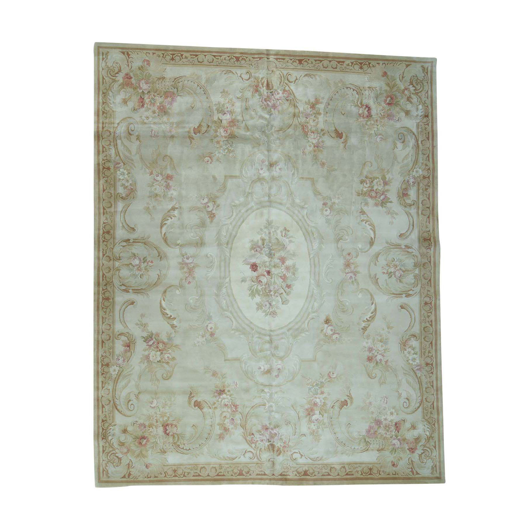 12'x15' Charles X Design Thick And Plush European Savonnerie Oversize Rug