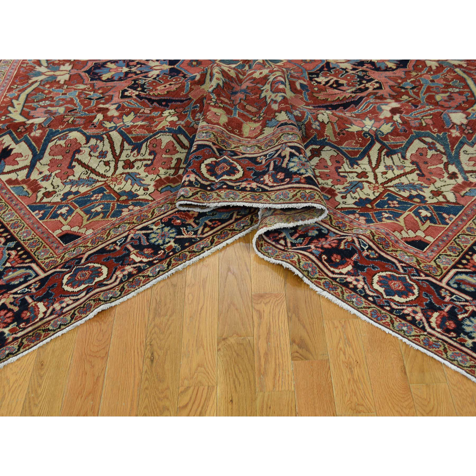 8'6''x11'7'' Antique Persian Heriz Hand Made Mint Condition Oriental Rug