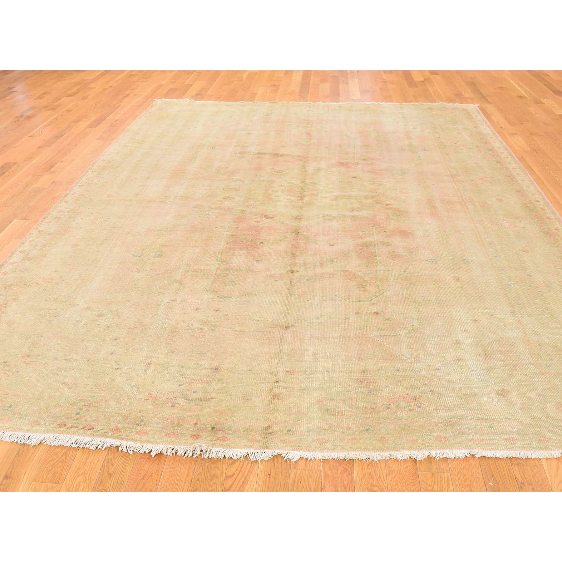 8'2''x11' Hand Woven Antique Turkish Oushak Mint Condition Oriental Rug