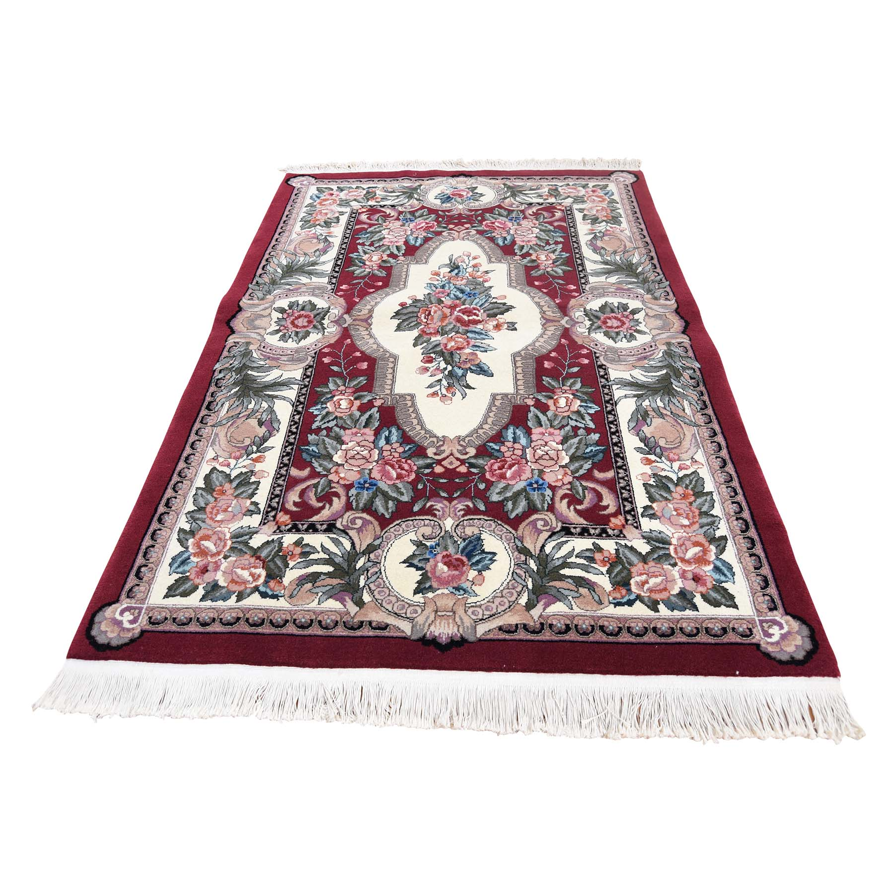 "3'10""x6' Hand Woven Pure Wool Louis Philip Aubuson Design Thick and Plush Rug"