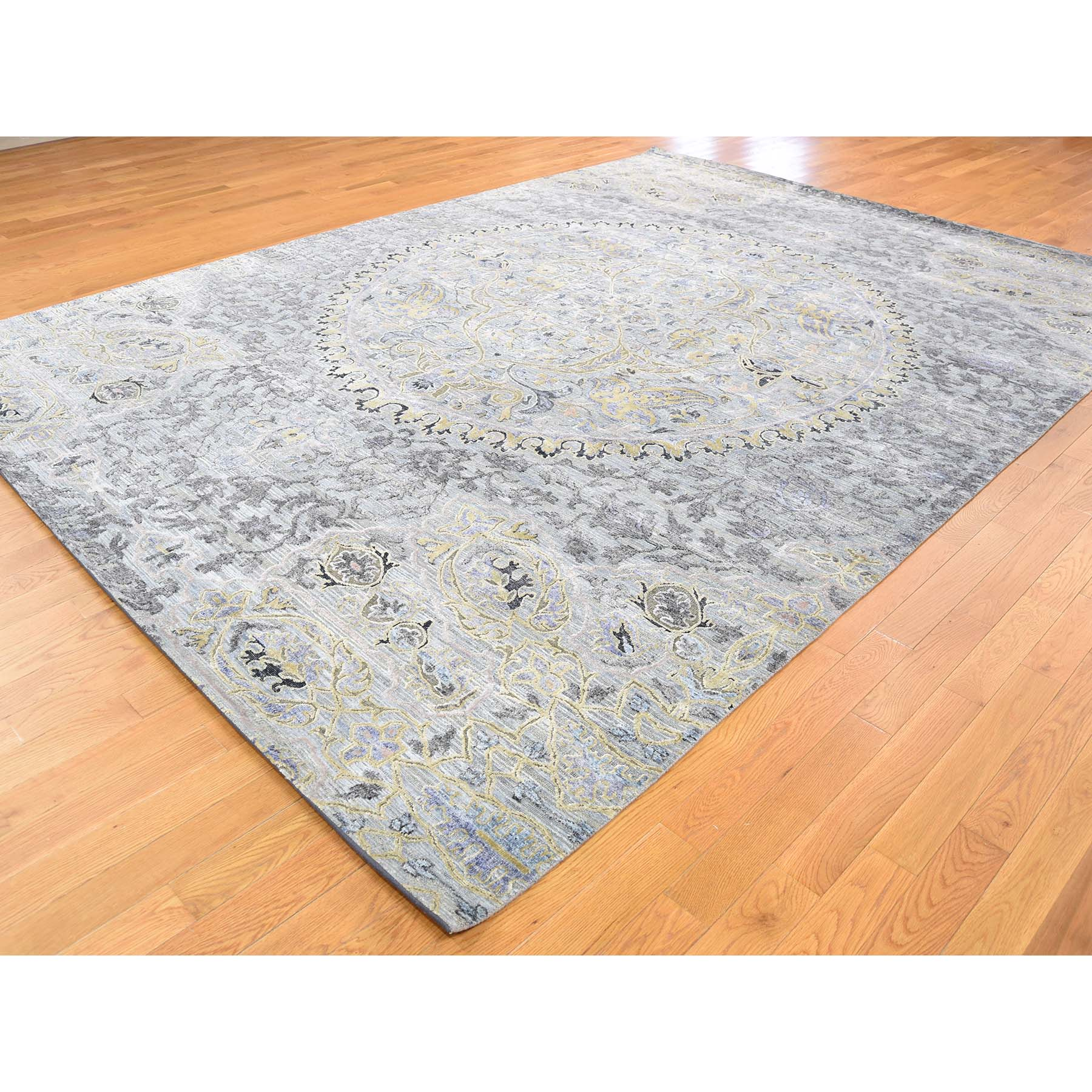 9 x12 THE MAHARAJA Silk with Textured Wool Hand Woven Oriental Rug
