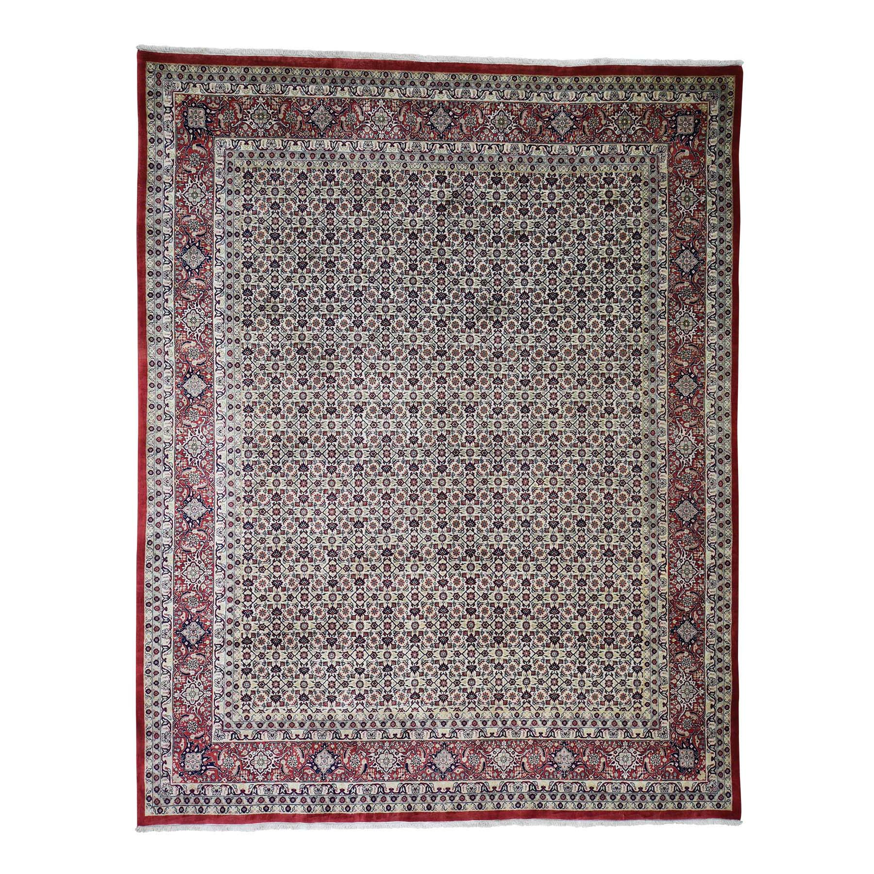 8'x10' Super Fine Bijar 300 Kpsi All Over Design Hand Woven Oriental Rug