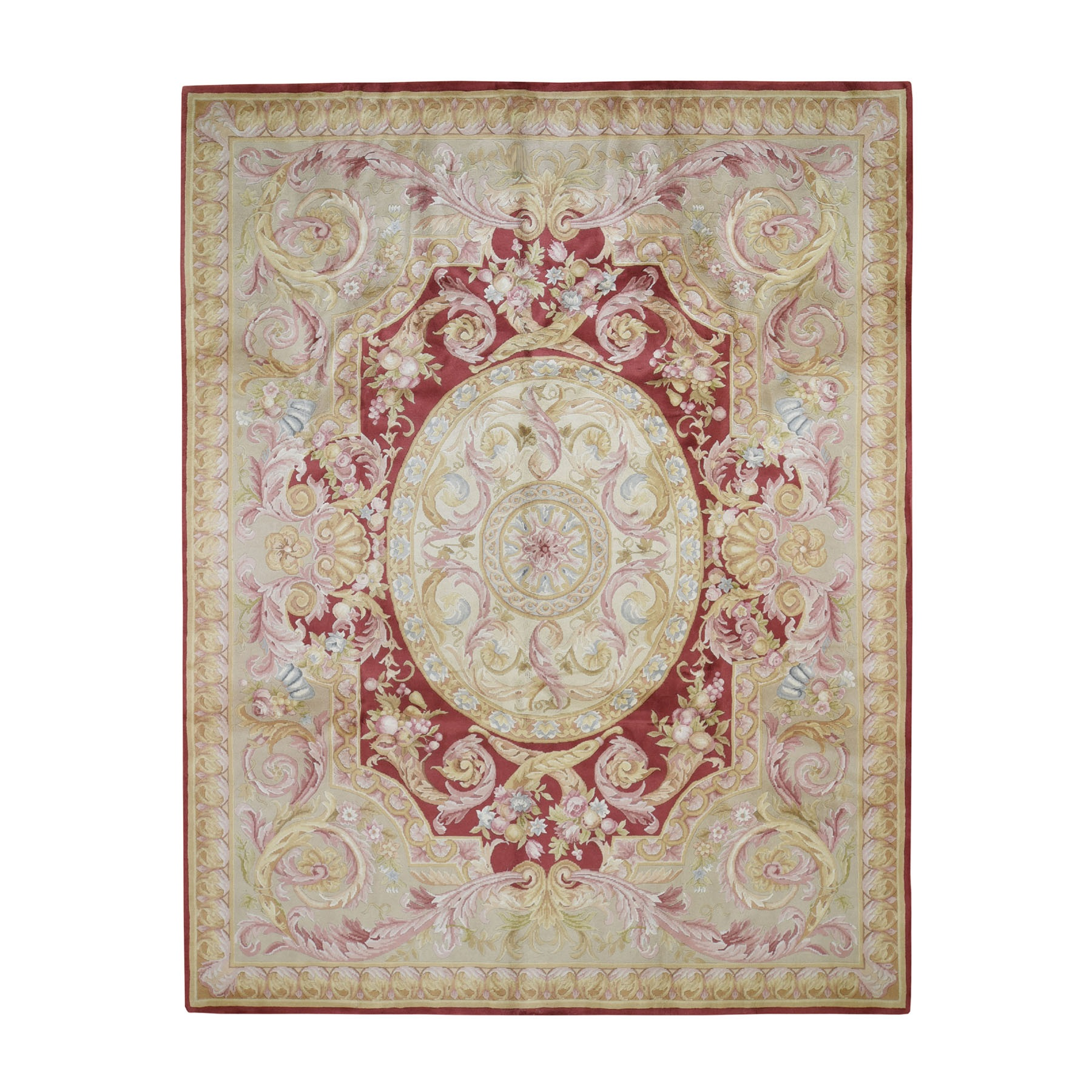 8'x10' Hand Woven Thick And Plush Savonnerie Napoleon III Design Oriental Rug