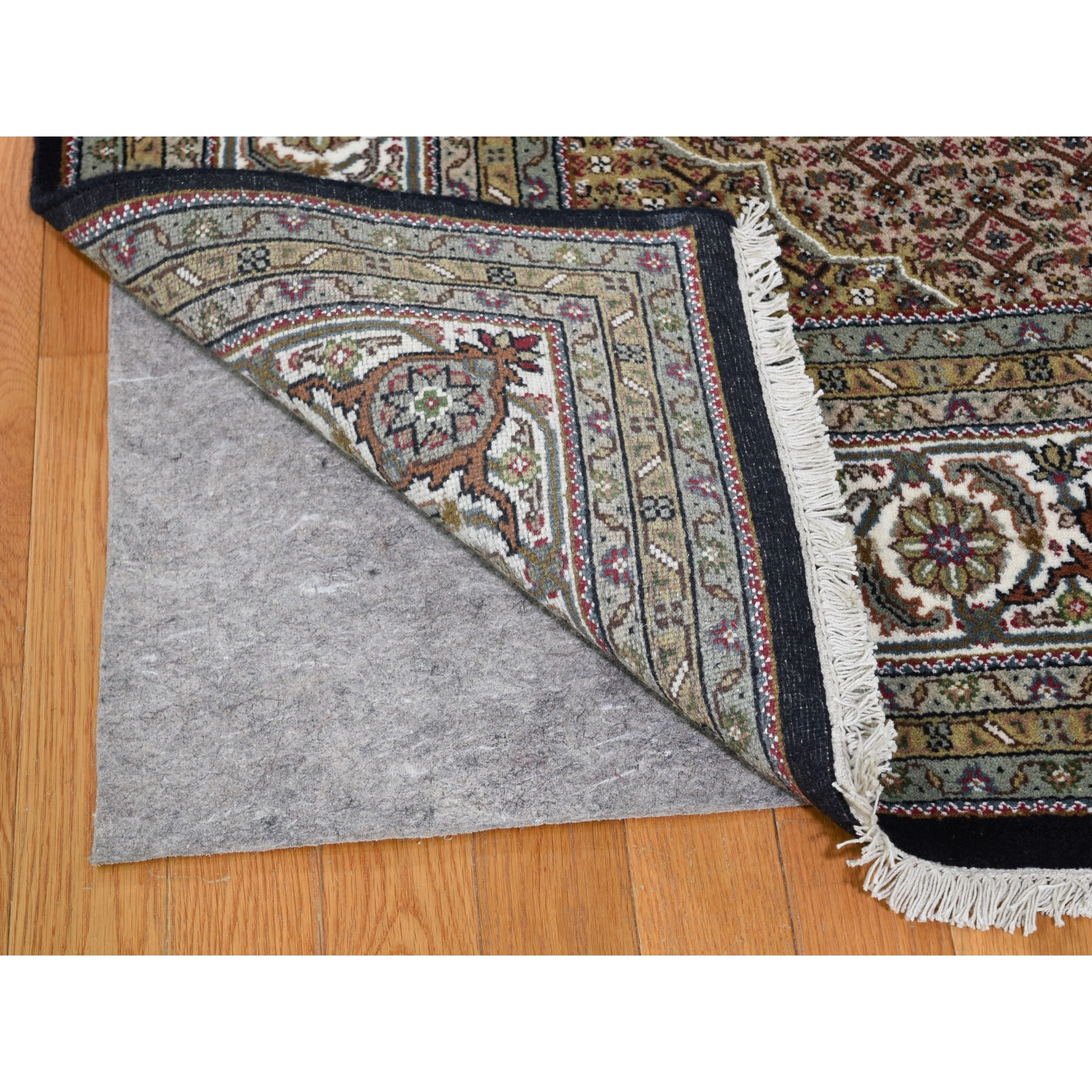Wool And Silk Hand Woven Oriental Rug