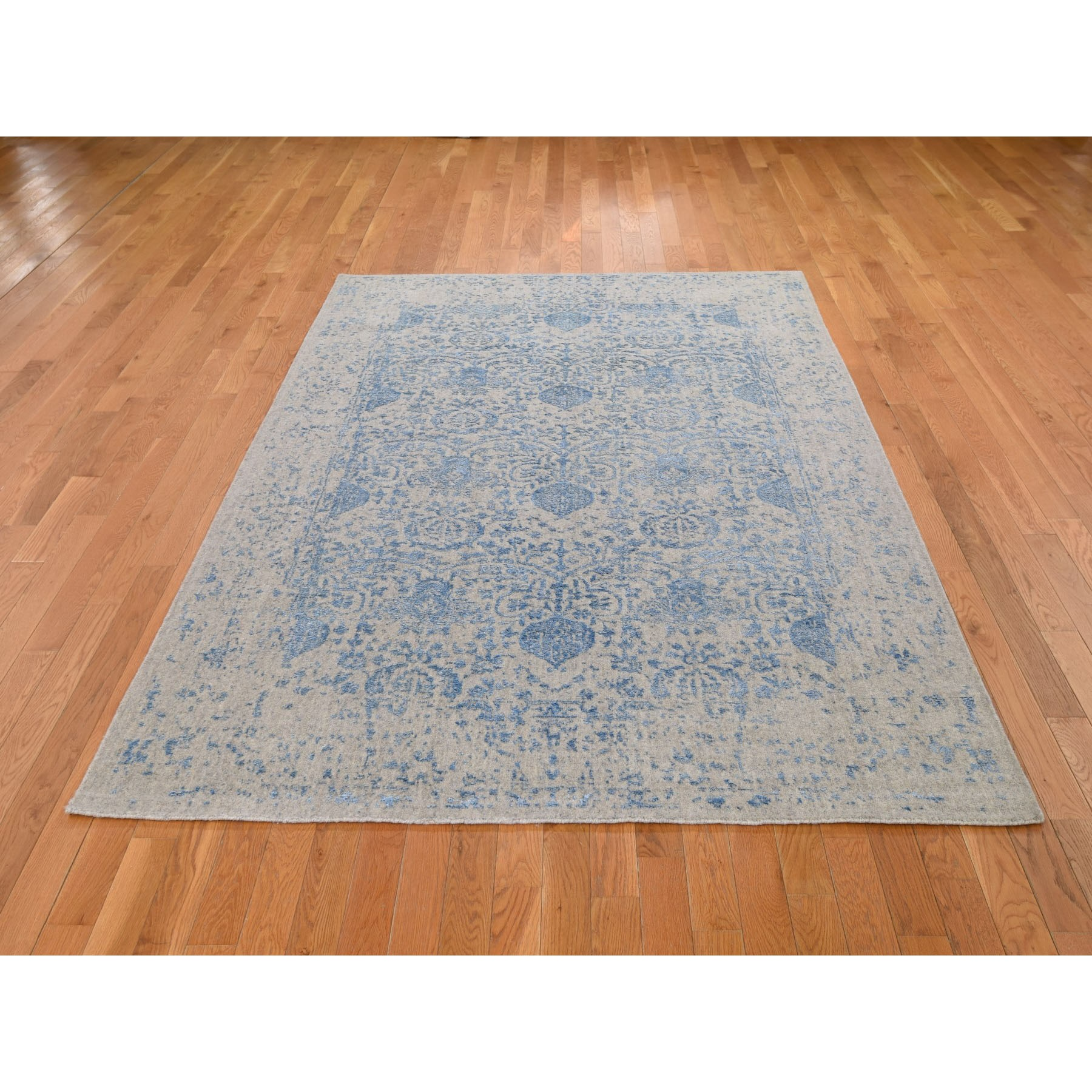 "5'10""x8'9"" Hand Loomed Broken Pomegranate Design Tone on Tone Oriental Rug"