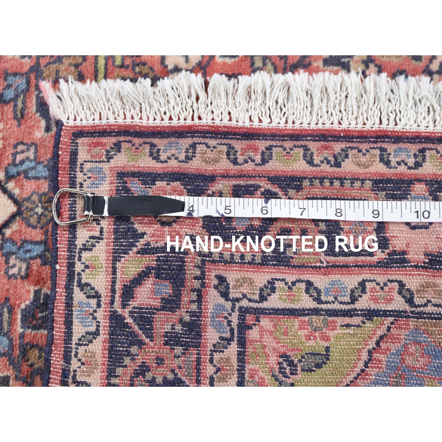 "2'7""x4'6"" Red Vintage Persian Hamadan Clean Full Pile Hand Woven Pure Wool Oriental Rug"