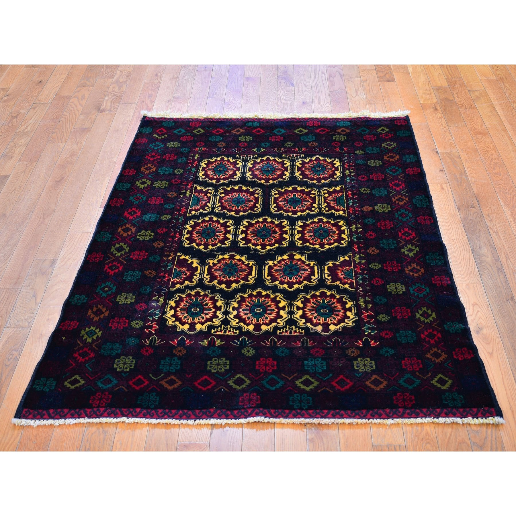New Afghan Baluch Pure Wool Hand Woven