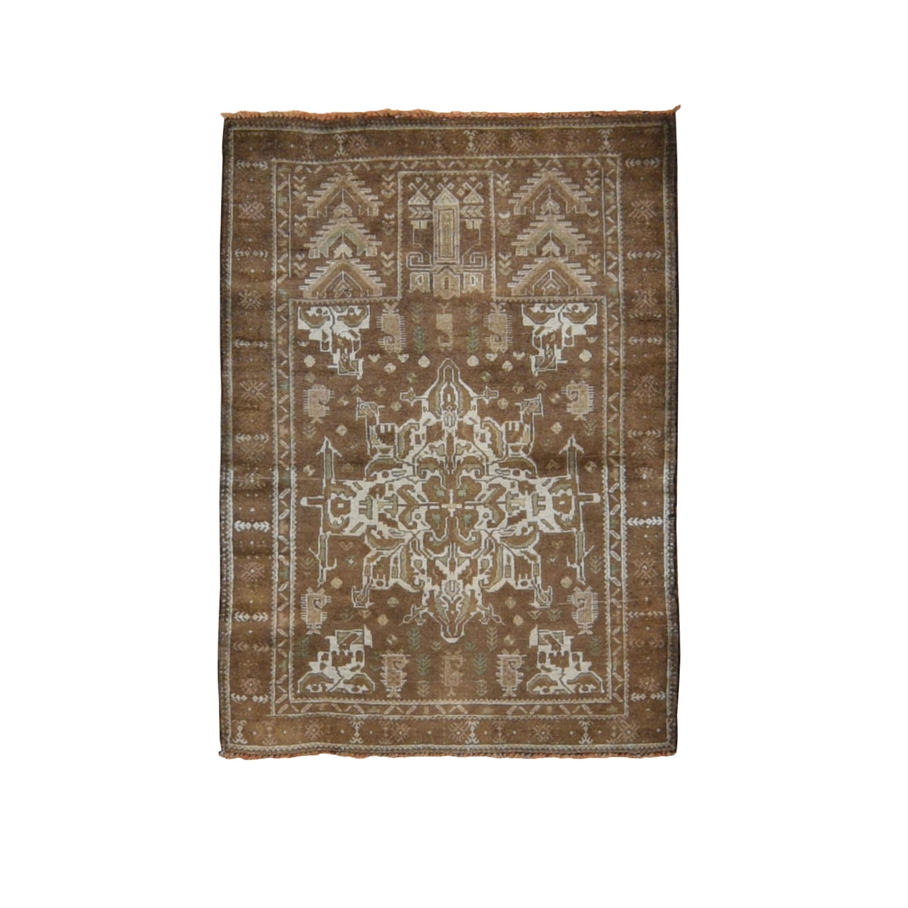 3'x4' Washed Out With Natural Colors Tribal Hand Woven Oriental Rug