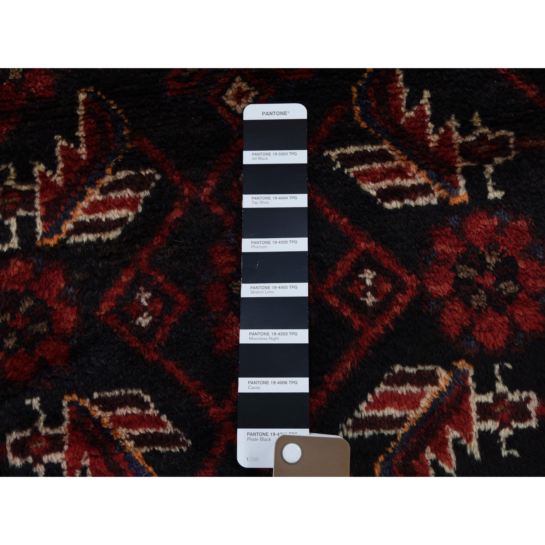 "3'5""x9'10"" Navy Blue New Persian Malayer All over Design Wide Runner Pure Wool Hand Woven Oriental Rug"
