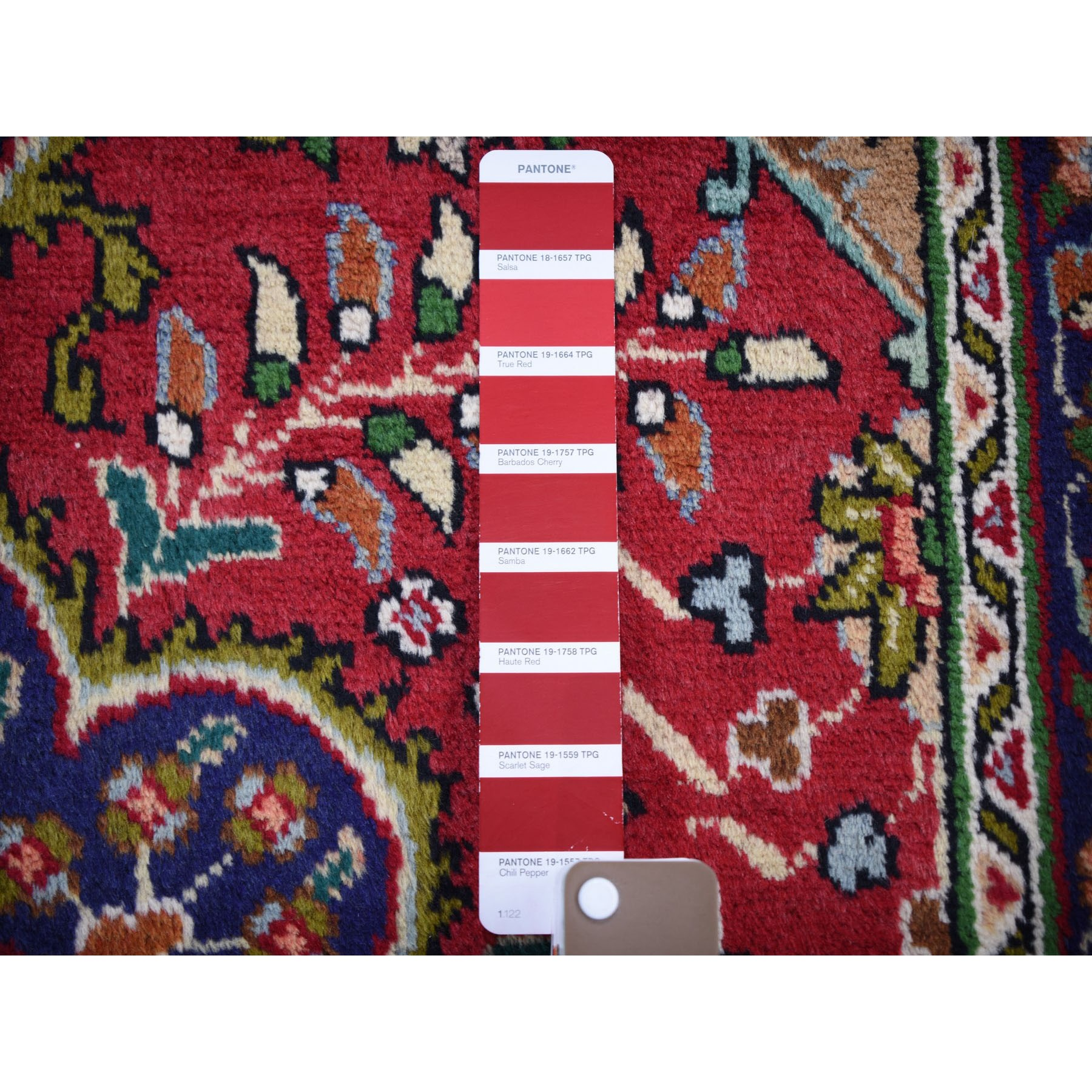 "3'3""x4'10"" Red Vintage Persian Tabriz Full Pile Pure Wool Hand Woven Oriental Rug"