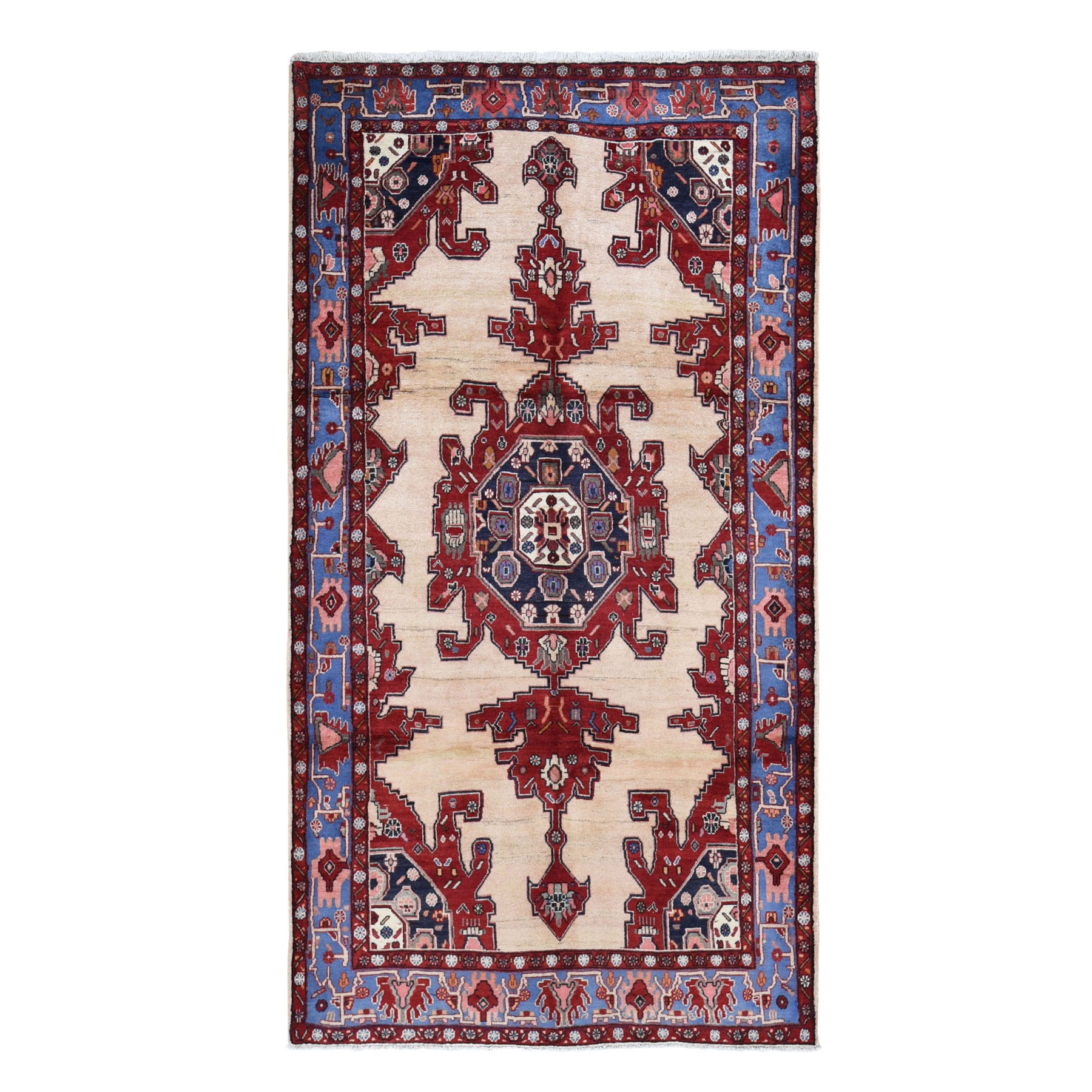 "5'3""x9'10"" Gallery Size North West Persian Pure Wool Hand Woven Oriental Rug"