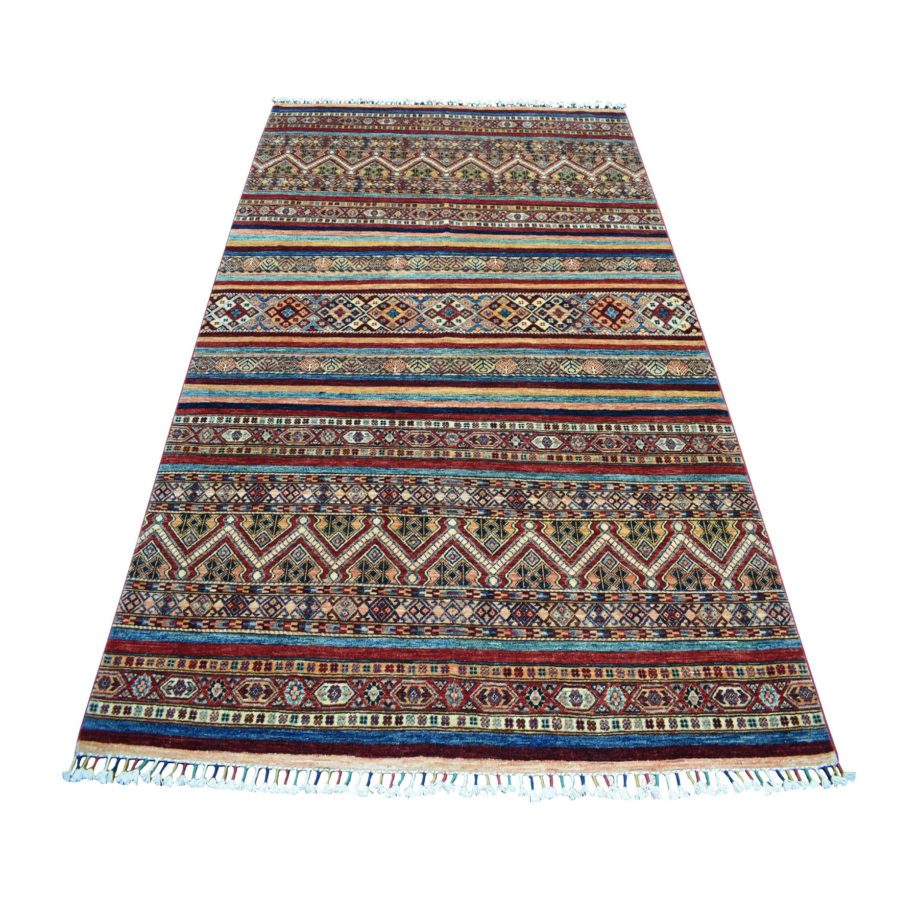"5'8""x7'10"" Khorjin Design Colorful Super Kazak Pure Wool Hand Woven Oriental Rug"