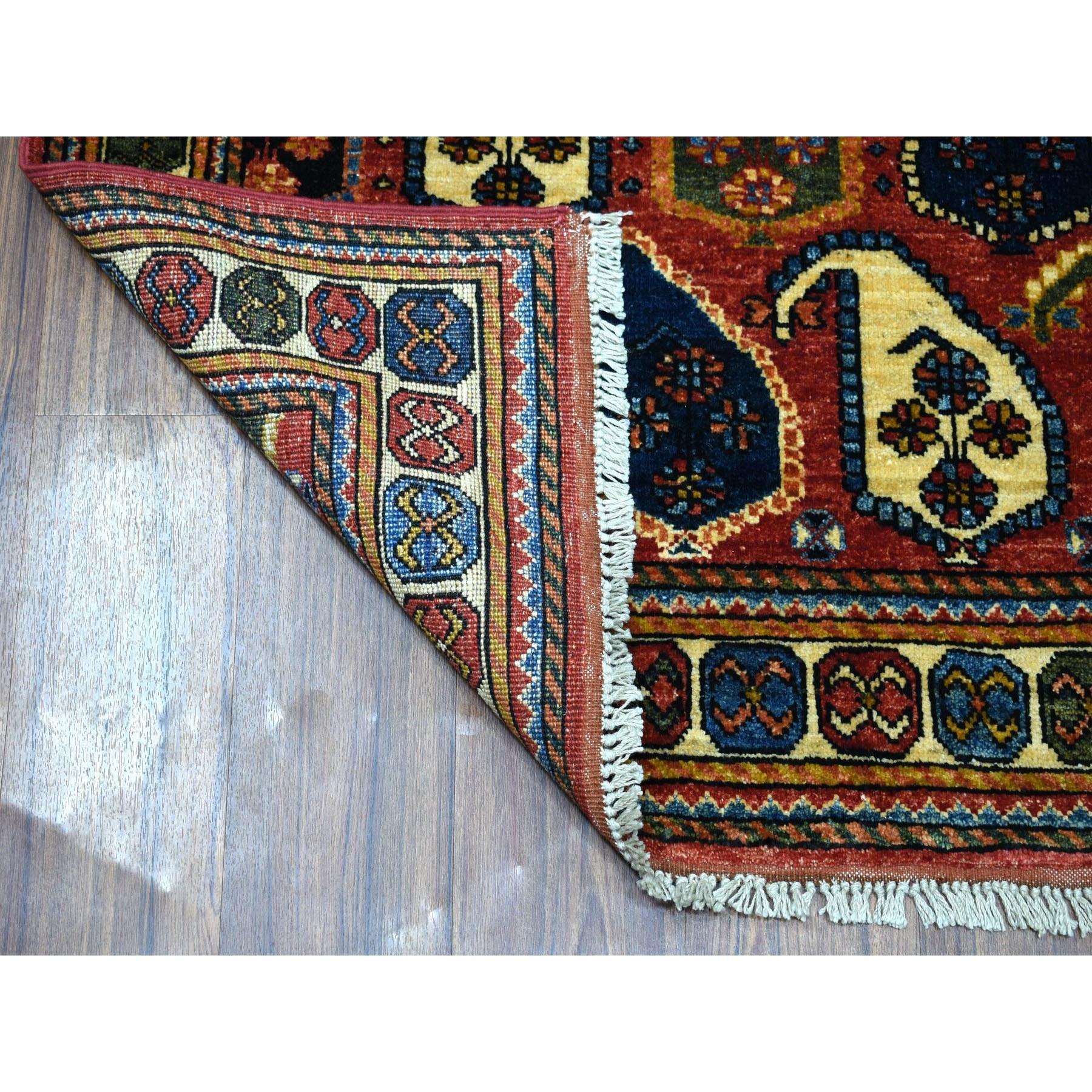 """4'x5'9"""" Red Afghan Turkoman Ersari"""