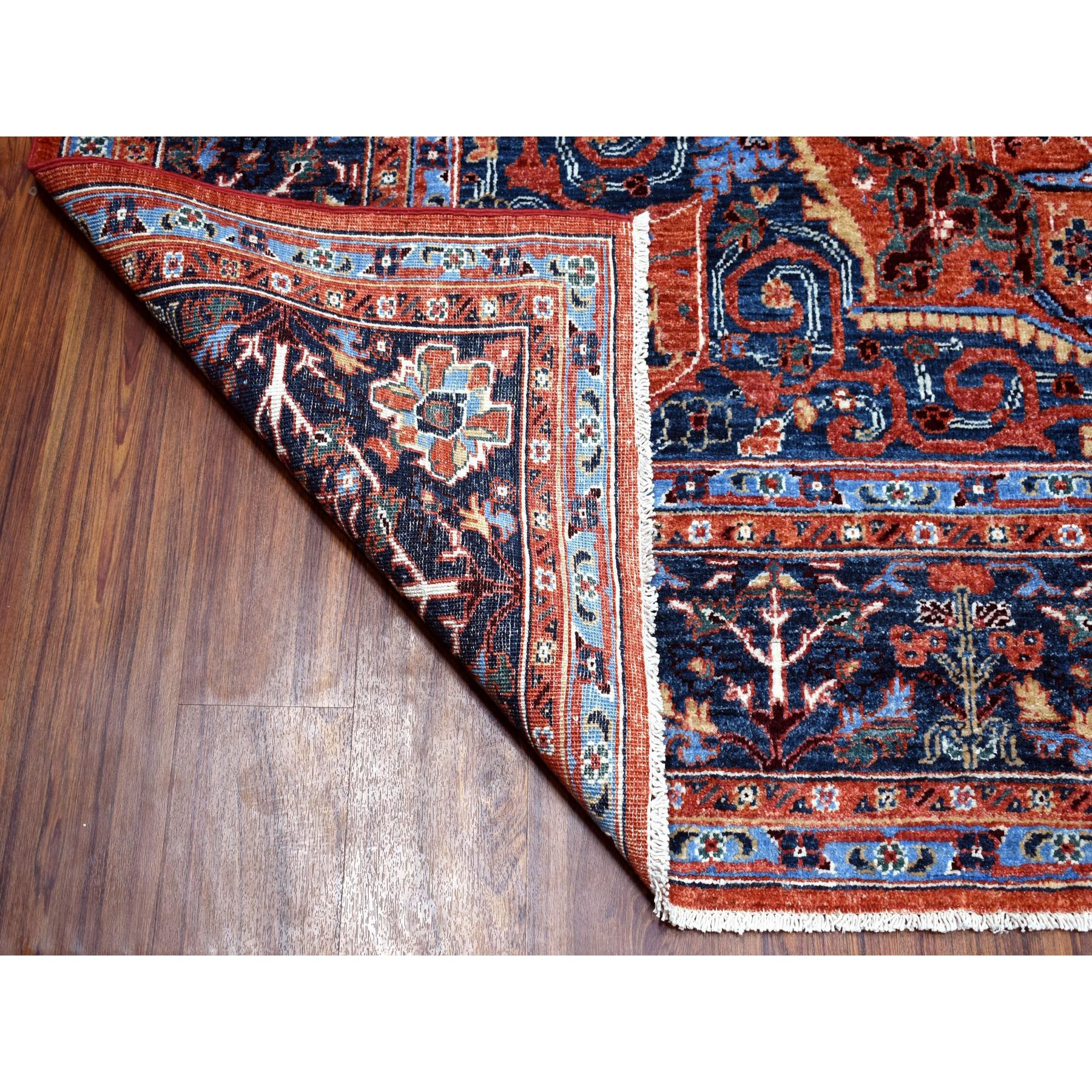 8'x10' Peshawar With Sarouk Fereghan Design Hand Woven Pure Wool Oriental Rug