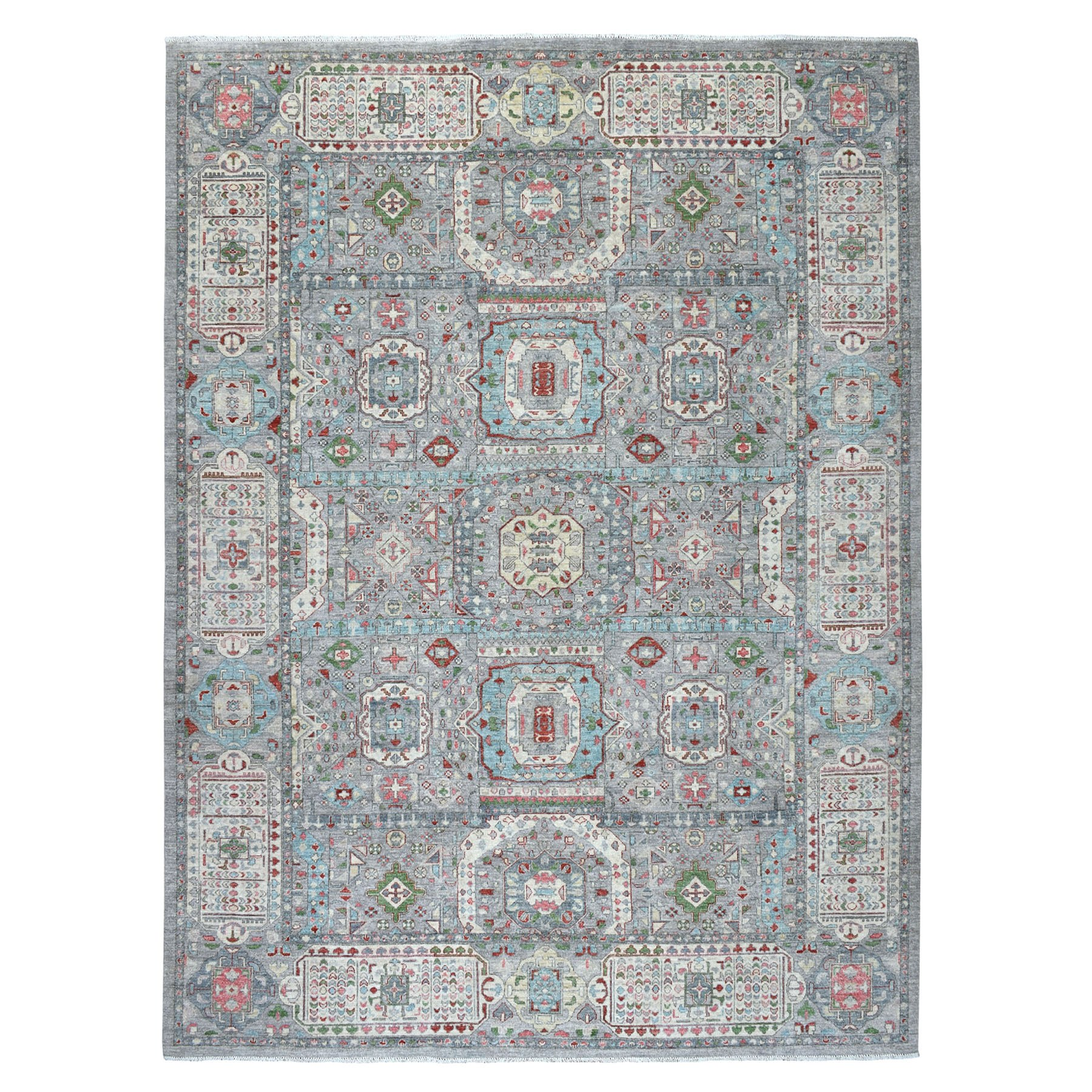 "8'10""x12' Peshawar With Mamluk Design With Pop Of Color Hand Woven Oriental Rug"