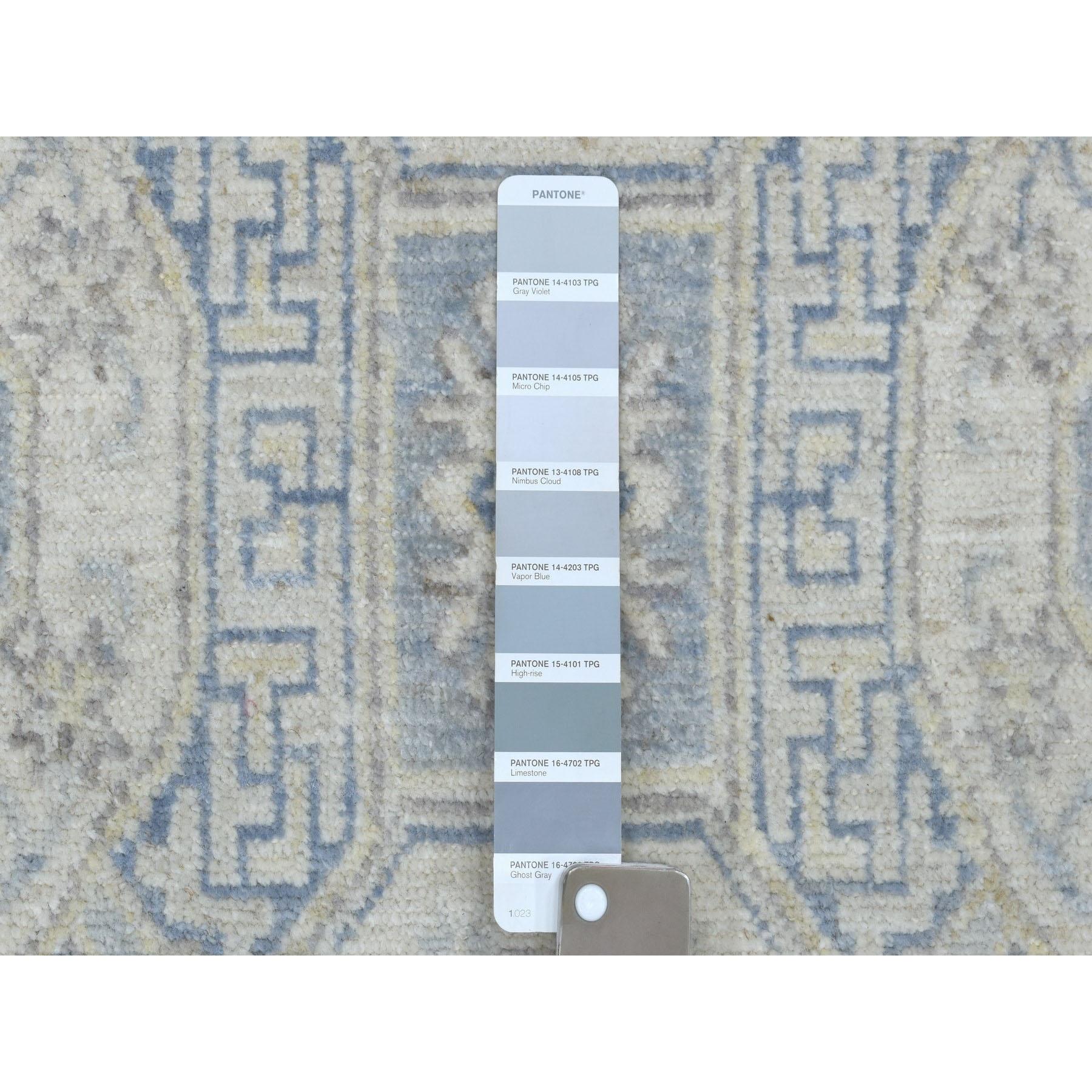"2'6""x26'5"" White Wash Peshawar Khotan Design Pure Wool Hand Woven XL Runner Orientals Rug"