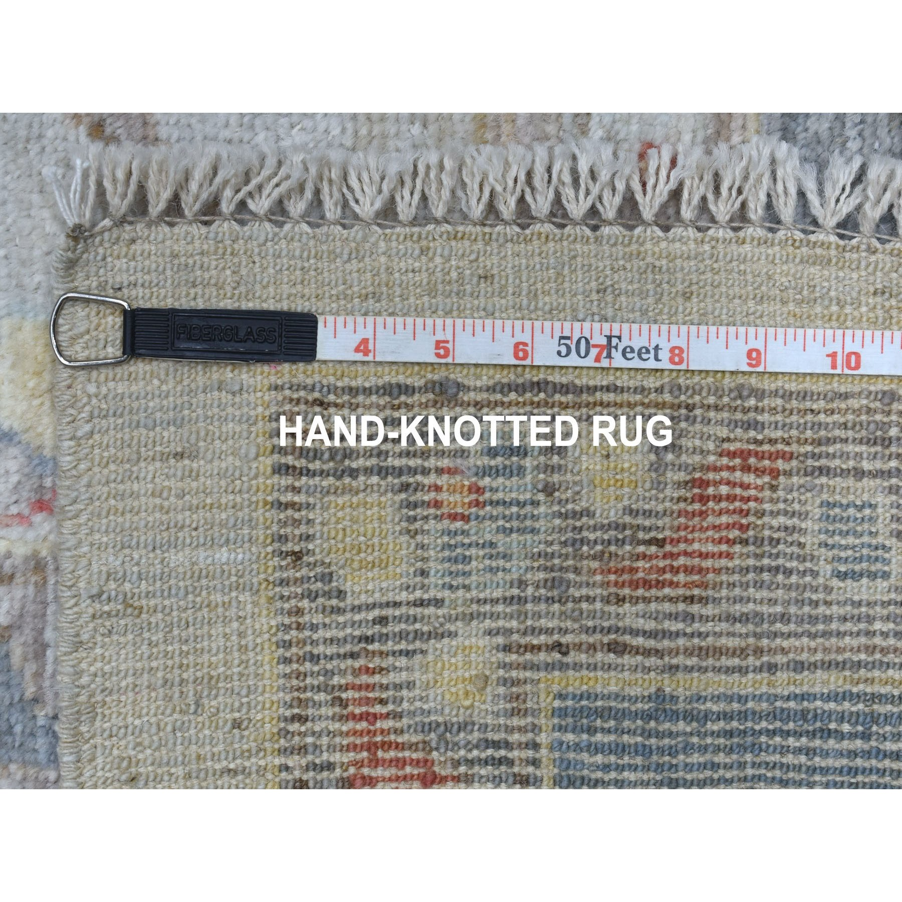 "10'x13'9"" Hand Woven Gray Angora Oushak With Soft & Supple Wool Oriental Rug"