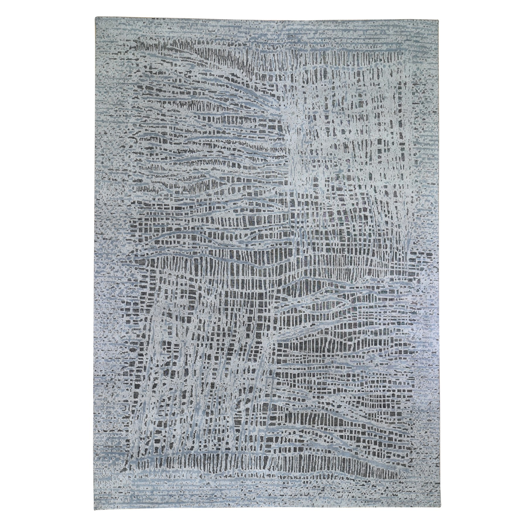 "10'x14'1"" THE LOST BRANCHES, Oversized Silk With Textured Wool Hand Woven Oriental Rug"
