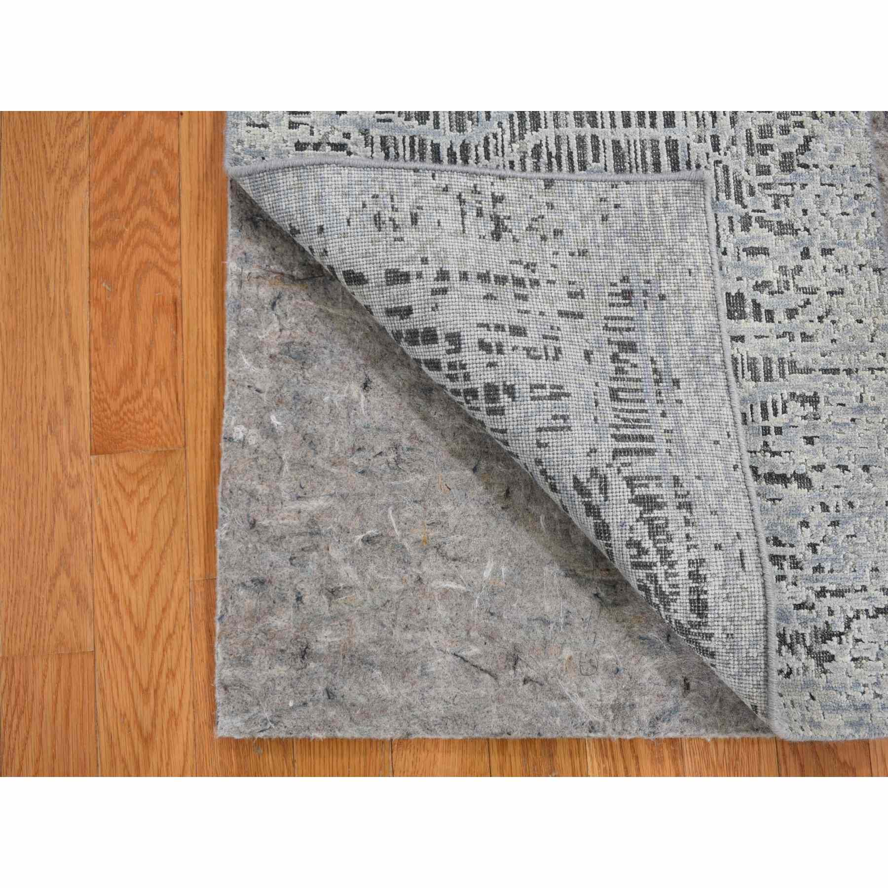 2'x3' THE LOST BRANCHES, Sampler Silk With Textured Wool Hand Woven Oriental Rug