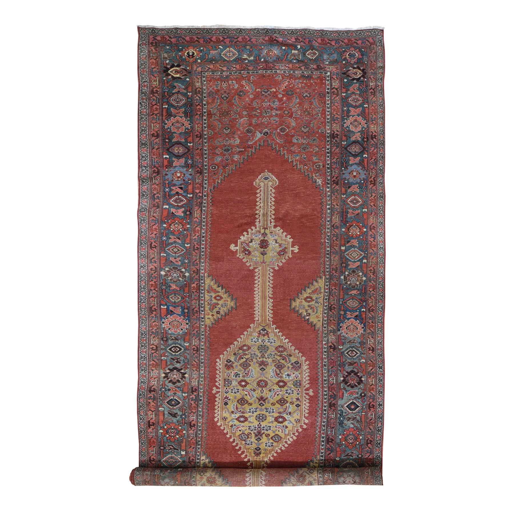 "6'8""x19'2"" Gallery Size Antique North West Persian Exc Condition, Clean Hand Woven Oriental Rug"